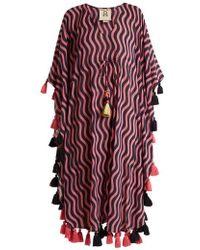 Figue - Amrita Wave-print Tassel Cotton-blend Kaftan - Lyst