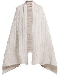 Queene And Belle - Aspen Cable-knit Cashmere Wrap Scarf - Lyst