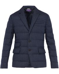 Ralph Lauren Purple Label - Windheim Single Breasted Quilted Coat - Lyst