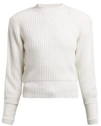 Fendi - Embroidered-cuff Cashmere Jumper - Lyst