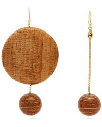 Rosantica By Michela Panero - Mismatched Bamboo Drop Earrings - Lyst