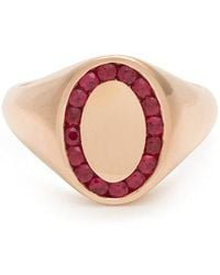 Jessica Biales - Ruby & Pink-gold Ring - Lyst