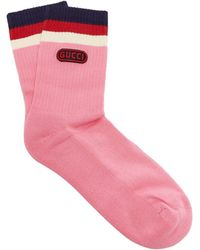 Gucci - Logo-embellished Striped Socks - Lyst