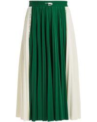 Valentino   Pleated Midi Skirt   Lyst