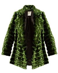 Maison Rabih Kayrouz - Grizzly Quilted Faux-fur Coat - Lyst