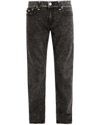 True Religion - Contrast Stitch Mid-rise Straight-leg Jeans - Lyst