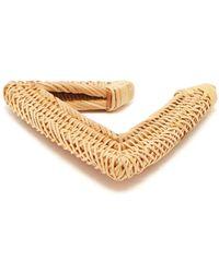 Cult Gaia - Jane Triangular Woven Straw Bangle - Lyst
