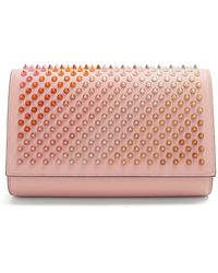 Christian Louboutin | Paloma Spike-embellished Leather Clutch | Lyst
