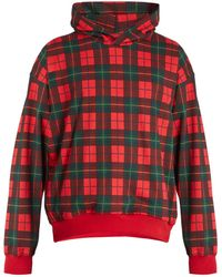 Fear Of God - Checked Cotton Hooded Sweatshirt - Lyst