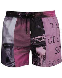 Paul Smith - Beach Scene Print Swim Shorts - Lyst