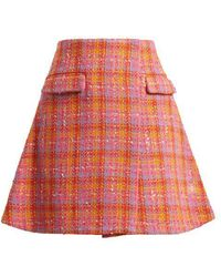 Emilio de la Morena - Amber Tweed Mini-skirt - Lyst