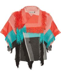 Issey Miyake - Parrot Fringed Checked Jacket - Lyst