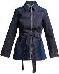 A.P.C. - Belted Denim Jacket - Lyst