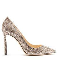 Jimmy Choo - Romy 100mm Glitter Court Shoes - Lyst