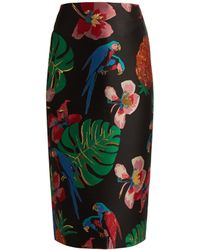 Valentino - Tropical Dreams Print Skirt - Lyst