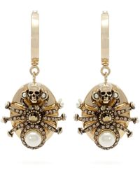 Alexander McQueen - Spider Embellished Drop Earrings - Lyst