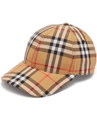 bbe58f09041 Burberry - House Check Wool Baseball Cap - Lyst