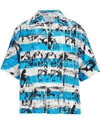 Prada - Comic Strip-print Shirt - Lyst