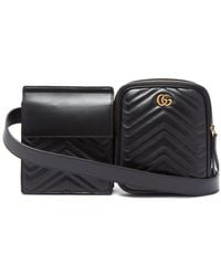 Gucci - Gg Marmont Leather Belt Bag - Lyst