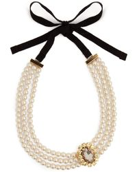 Erdem - Faux-pearl And Crystal Embellished Necklace - Lyst