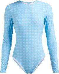Thorsun - Collins Geometric Print Swimsuit - Lyst