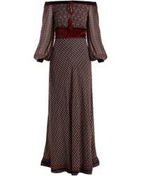 Talitha - Ashanti Geometric-print Silk-georgette Dress - Lyst
