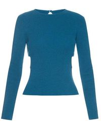 Emilia Wickstead - Heidi Cut-out Sides Ribbed-knit Sweater - Lyst