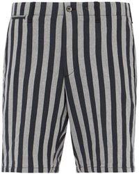 Rag & Bone Jacquard Stripe Herringbone Twill Bermuda Shorts