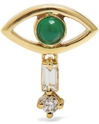 Ileana Makri - Diamond, Emerald & Yellow-gold Earring - Lyst