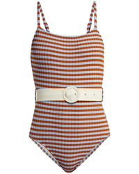Solid & Striped - The Nina Belted Swimsuit - Lyst