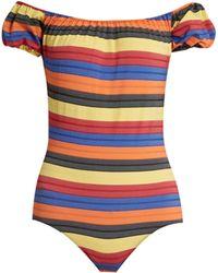 Lisa Marie Fernandez - Leandra Striped Swimsuit - Lyst