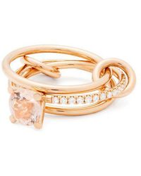 Spinelli Kilcollin - Sonny 18kt Rose Gold, Diamond And Morganite Ring - Lyst