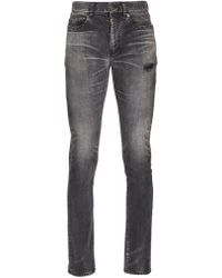 Saint Laurent - Faded Skinny Jeans - Lyst