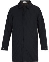 Stone Island - Concealed Hood Technical Coat - Lyst