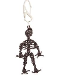 Alexander McQueen - Braided Cord Skeleton Key Ring - Lyst