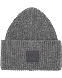 Acne Studios - Pansy S Face Ribbed Knit Beanie Hat - Lyst