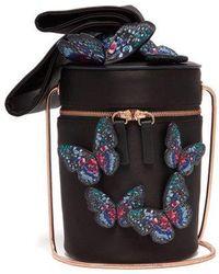 Sophia Webster - Bonnie Butterfly Satin Cylinder Bag - Lyst