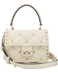 Valentino - Candystud Quilted Leather Cross Body Bag - Lyst
