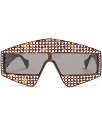 Gucci - Crystal Embellished Acetate Sunglasses - Lyst