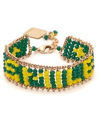Rosantica By Michela Panero - Striped Beaded Bracelet - Lyst