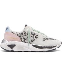 Golden Goose Deluxe Brand - Running Leopard Jacquard Low Top Trainers - Lyst