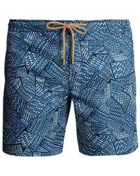 Thorsun - Titan-fit Tile-print Swim Shorts - Lyst