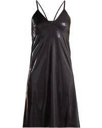 Norma Kamali - V Neck Metallic Slip Dress - Lyst