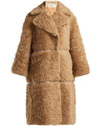 Vika Gazinskaya - Faux-fur Alpaca-blend Coat - Lyst