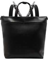 Valextra - Grained Leather Backpack - Lyst