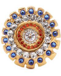 Sonia Boyajian Narcissist Crystal Embellished Brooch - Multicolor