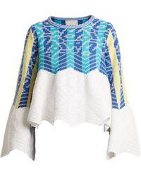Peter Pilotto - Striped-jacquard Cotton Sweater - Lyst