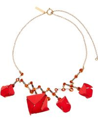 Marni - Flower And Crystal Necklace - Lyst