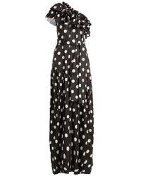 Caroline Constas - Rhea Ruffled Cotton-blend Dress - Lyst