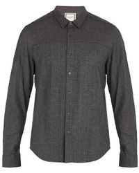 Wooyoungmi - Prince Of Wales-checked Single-cuff Flannel Shirt - Lyst